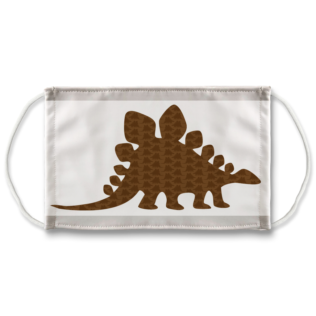 Dinosaur Silhouettes Pattern 1  Face Mask