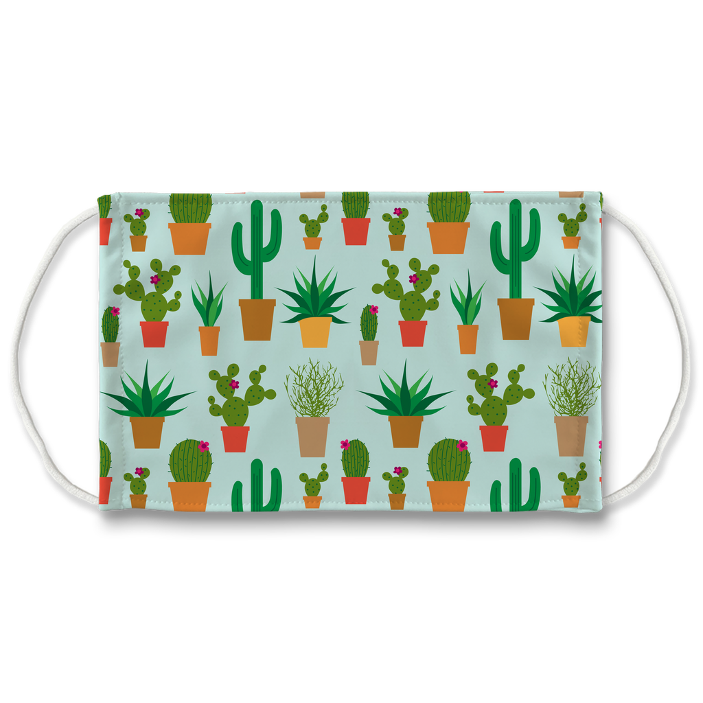 Cactus Pattern 2  Face Mask