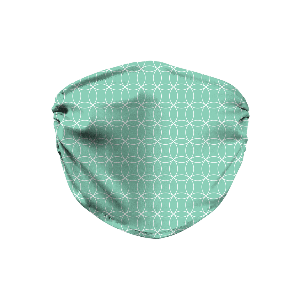 Circle Lattice Pattern 2  Face Mask