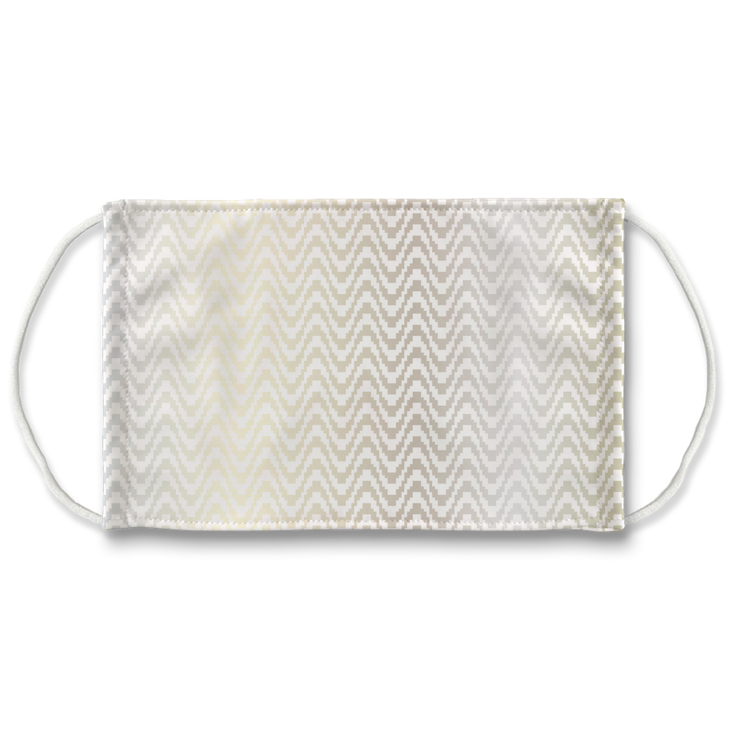 Silver Bargello Pattern 1  Face Mask