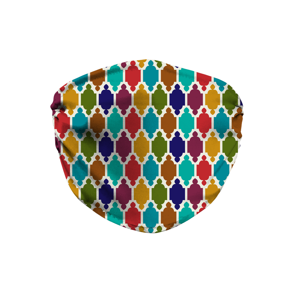 Moroccan Tile Pattern 3  Face Mask