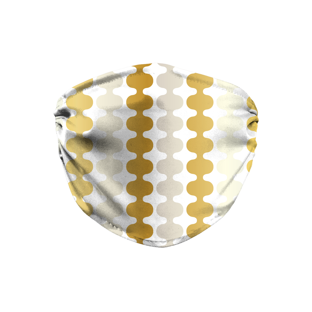 Silver Gold Pattern 3  Face Mask