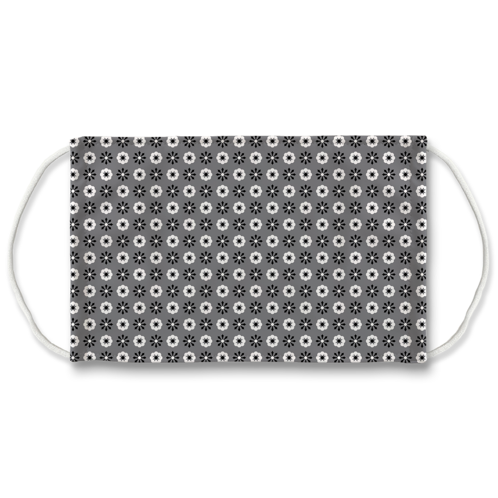 Gray Bandana Pattern 7  Face Mask