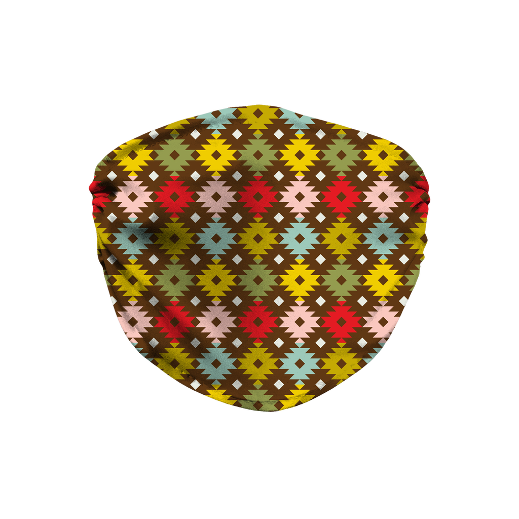 Primitive Geometric Pattern 5  Face Mask