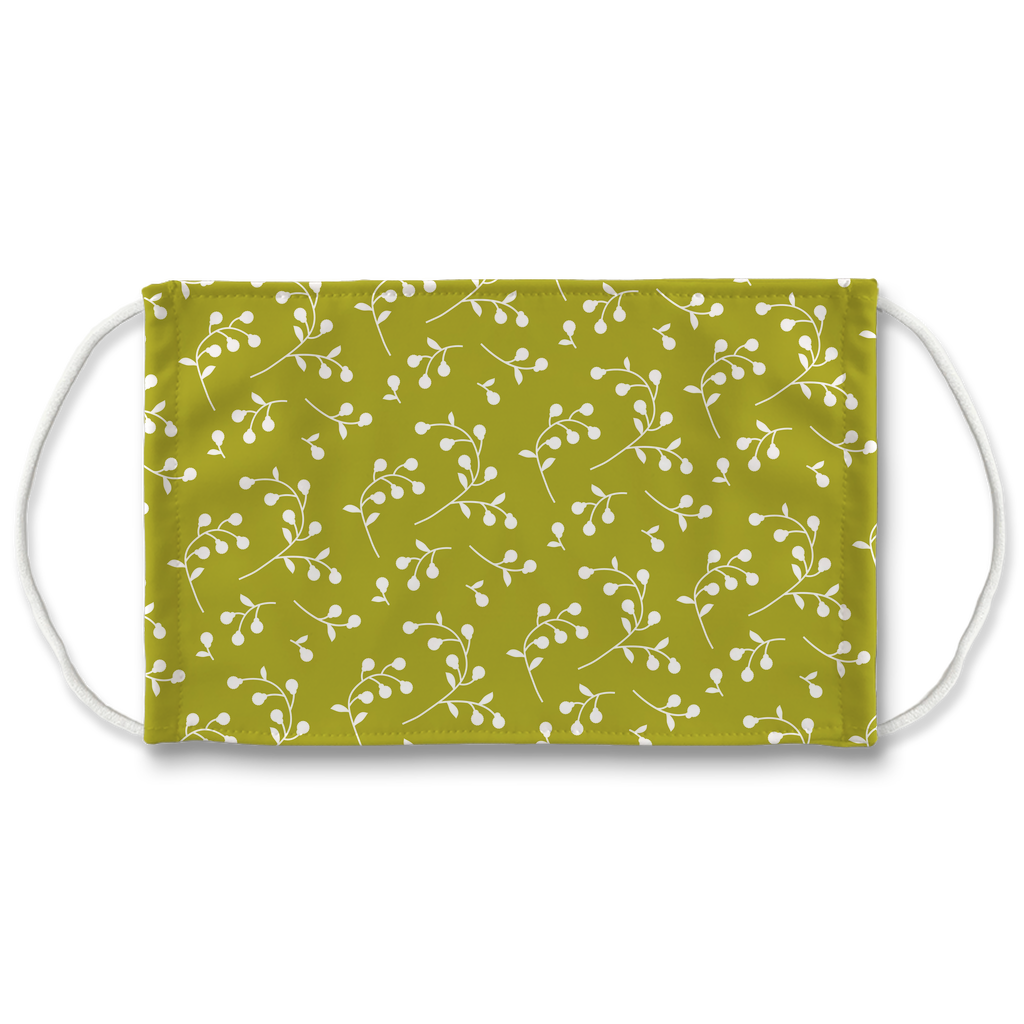 Retro Floral Pattern 6  Face Mask
