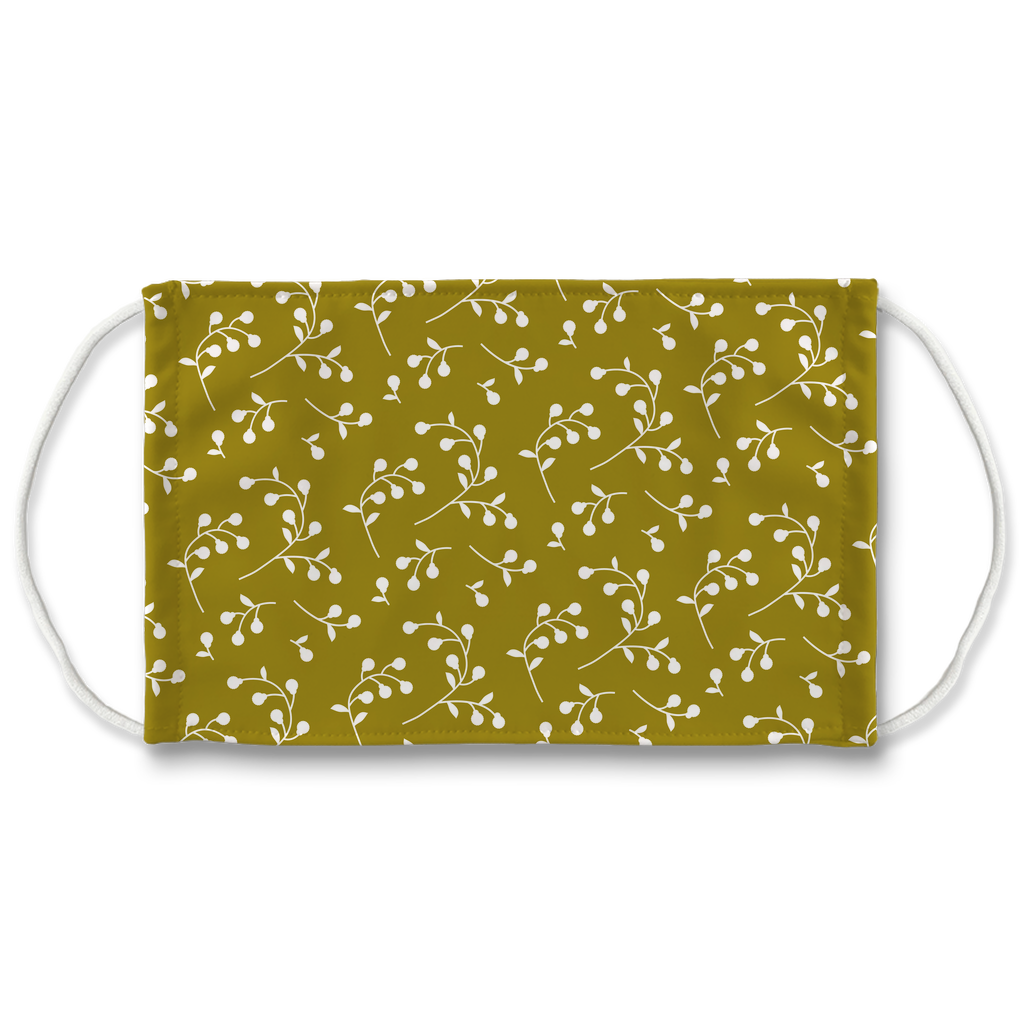 Retro Floral Pattern 10  Face Mask