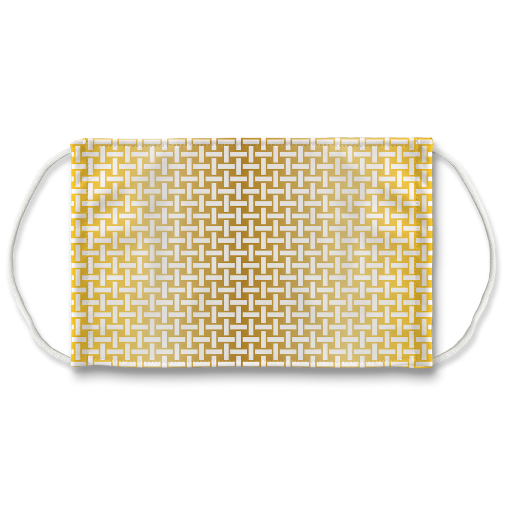 Metallic Lattice Pattern gold 1  Face Mask