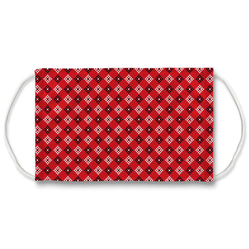 Red Bandana Pattern 5  Face Mask
