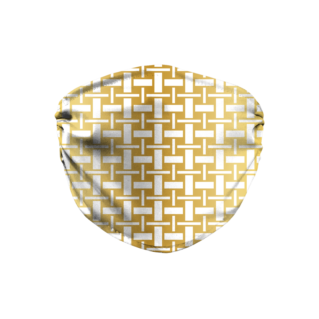 Metallic Lattice Pattern gold 2  Face Mask