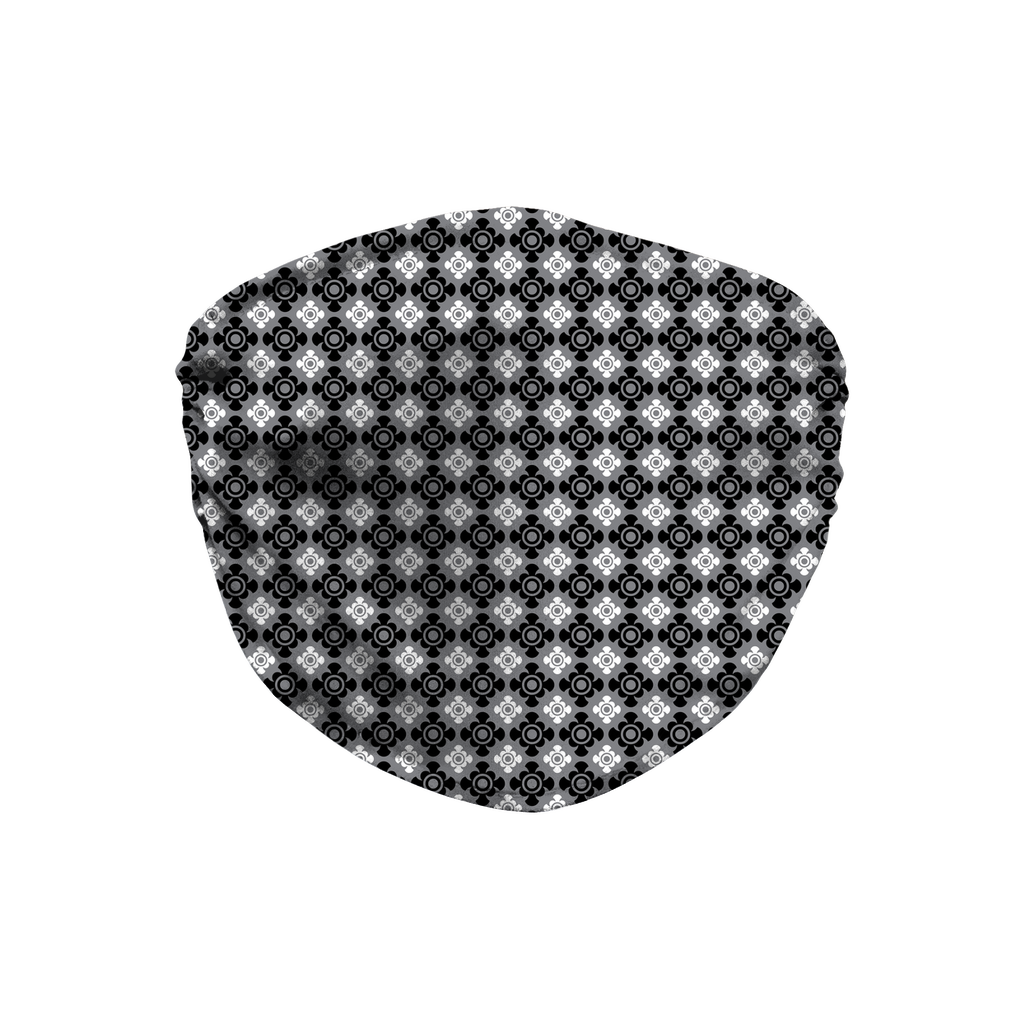 Gray Bandana Pattern 8  Face Mask