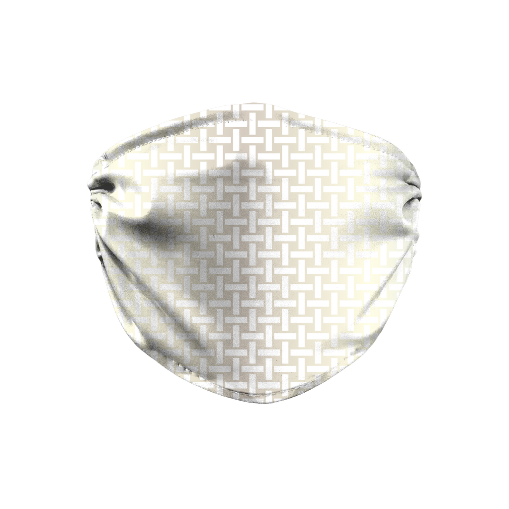 Metallic Lattice Pattern silver 1  Face Mask