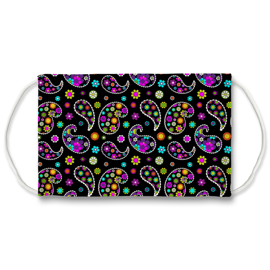 Paisley Floral Pattern 9  Face Mask