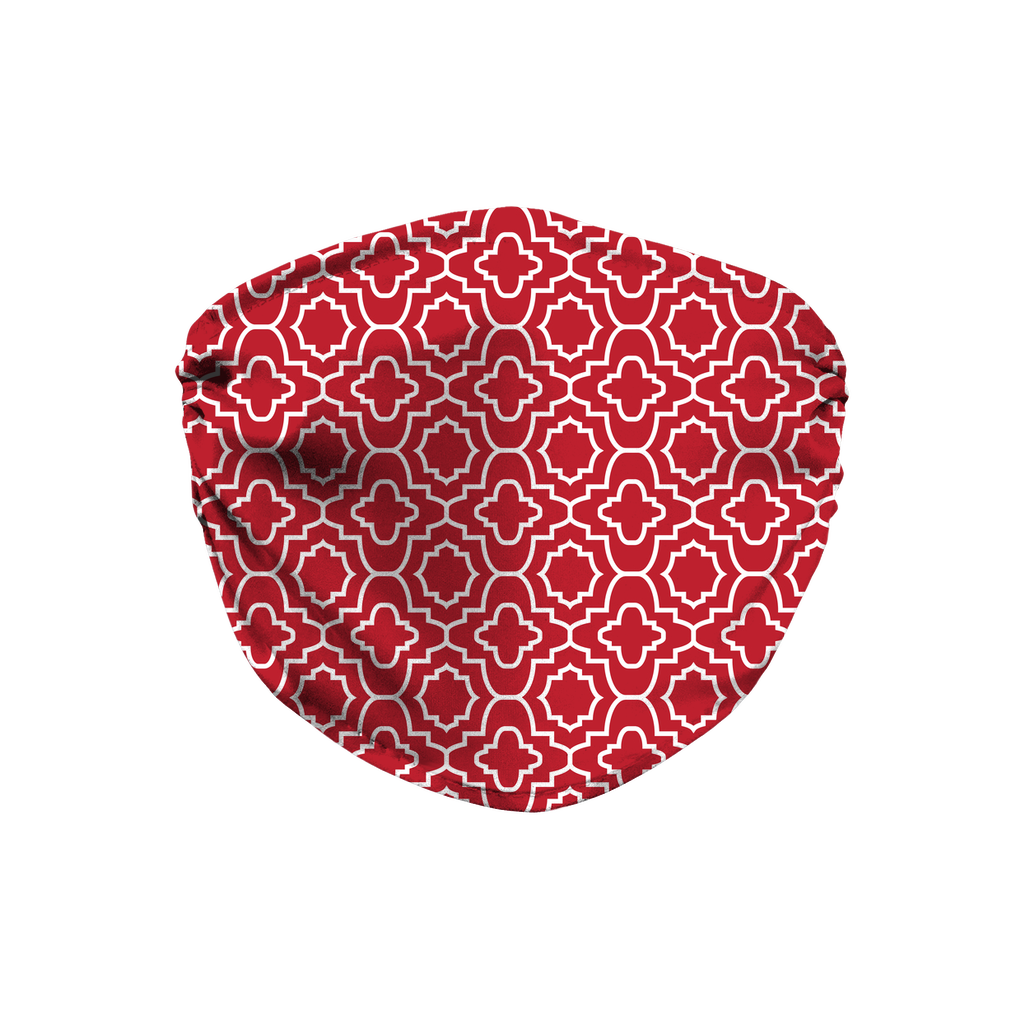 Red Moroccan Pattern 9  Face Mask