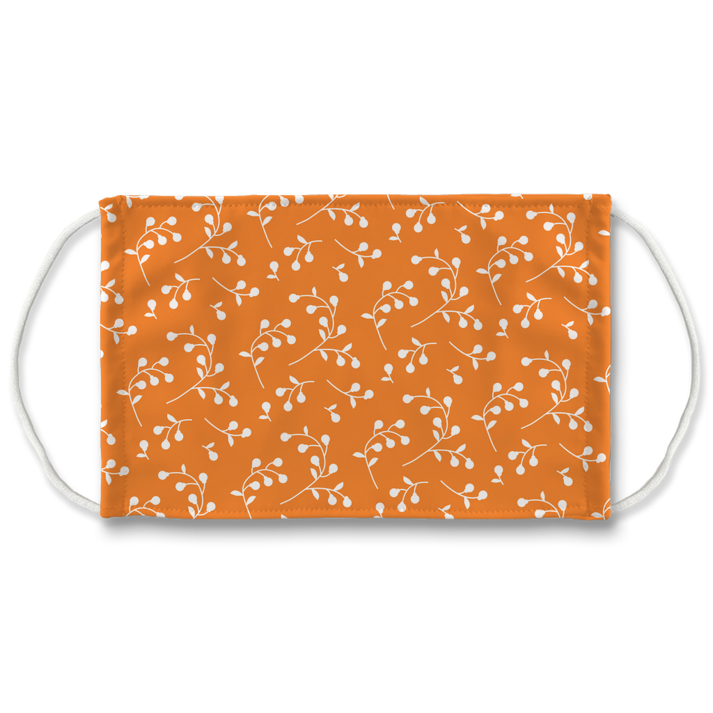 Retro Floral Pattern 1  Face Mask