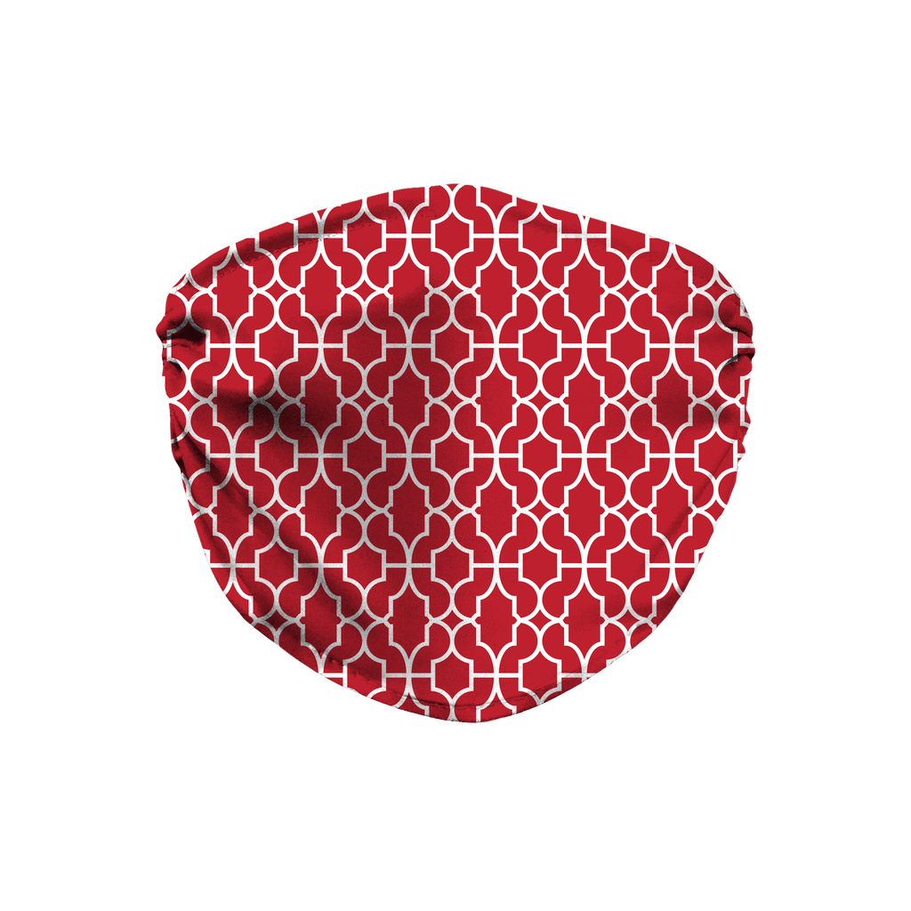Red Moroccan Pattern 6  Face Mask