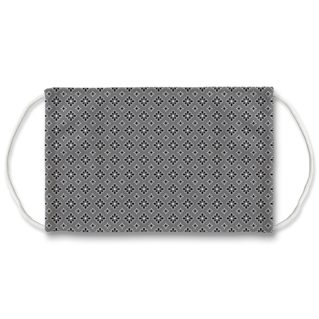 Gray Bandana Pattern 9  Face Mask
