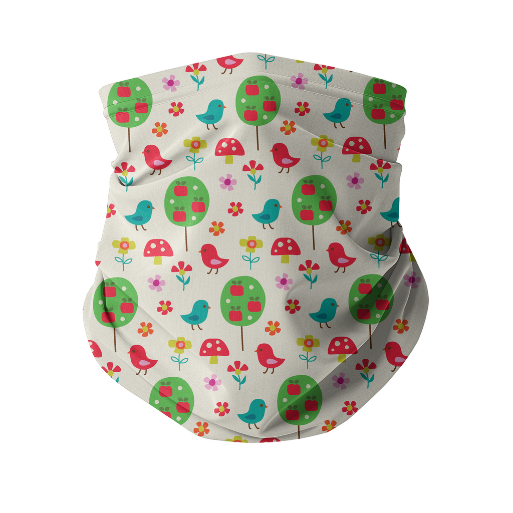 Flowers and Birds Neck gaiter 7 Sublimation Neck Gaiter