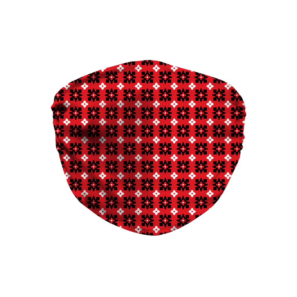 Red Bandana Pattern 10  Face Mask
