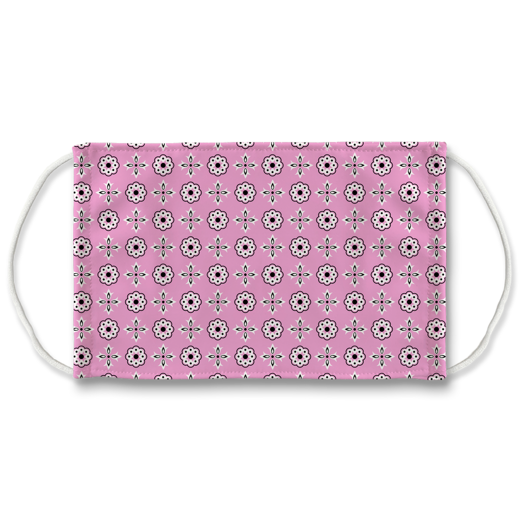 Pink Bandana Pattern 12  Face Mask