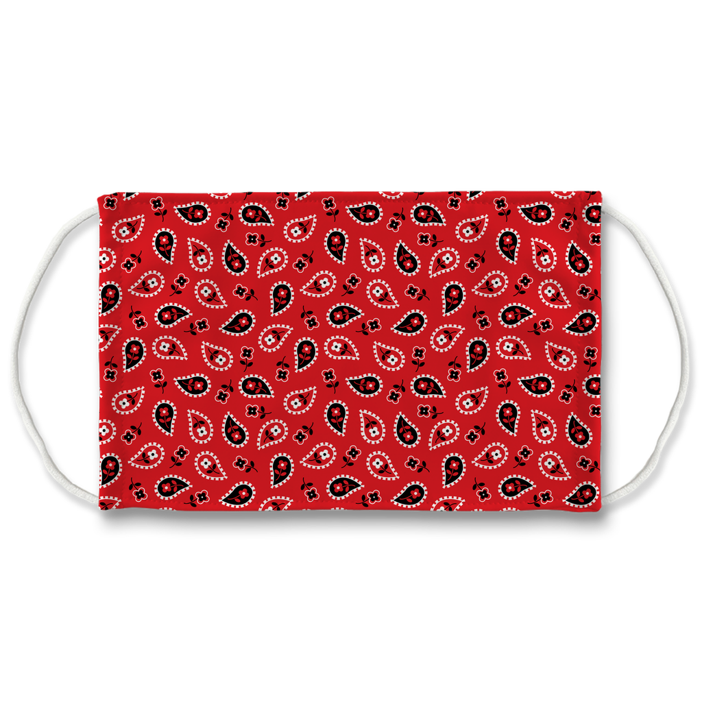 Red Bandana Pattern 6  Face Mask