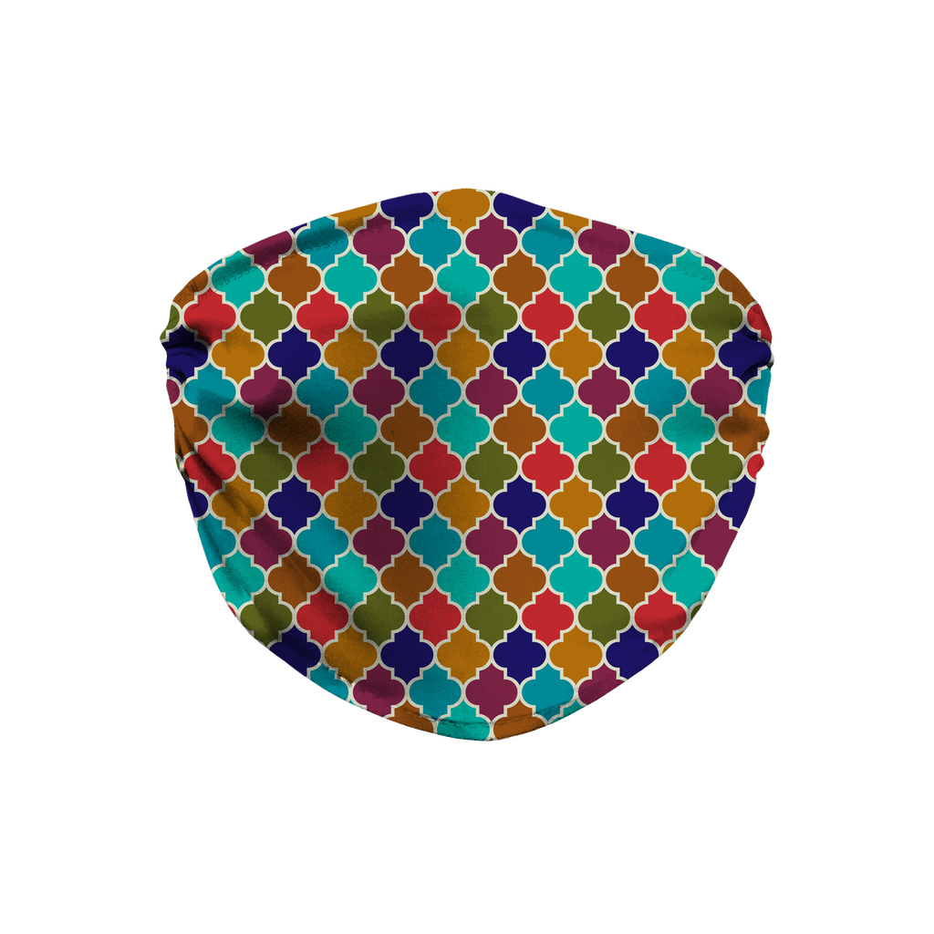 Moroccan Tile Pattern 12  Face Mask