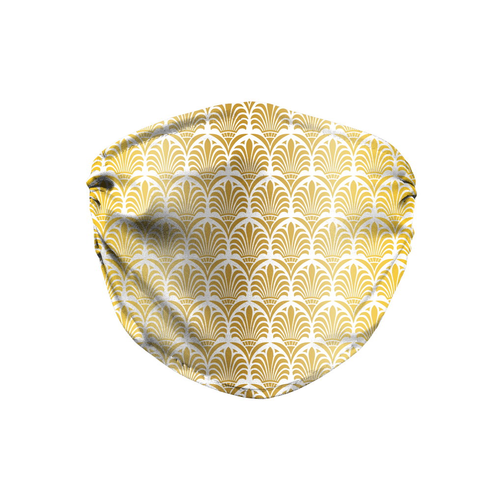 Gold Greek Ornamental Pattern 7  Face Mask