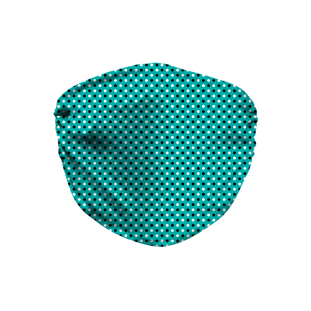 Turquoise Blue Bandana Pattern 2  Face Mask