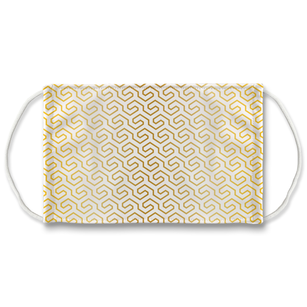 Gold Mod Geometric Pattern 1  Face Mask