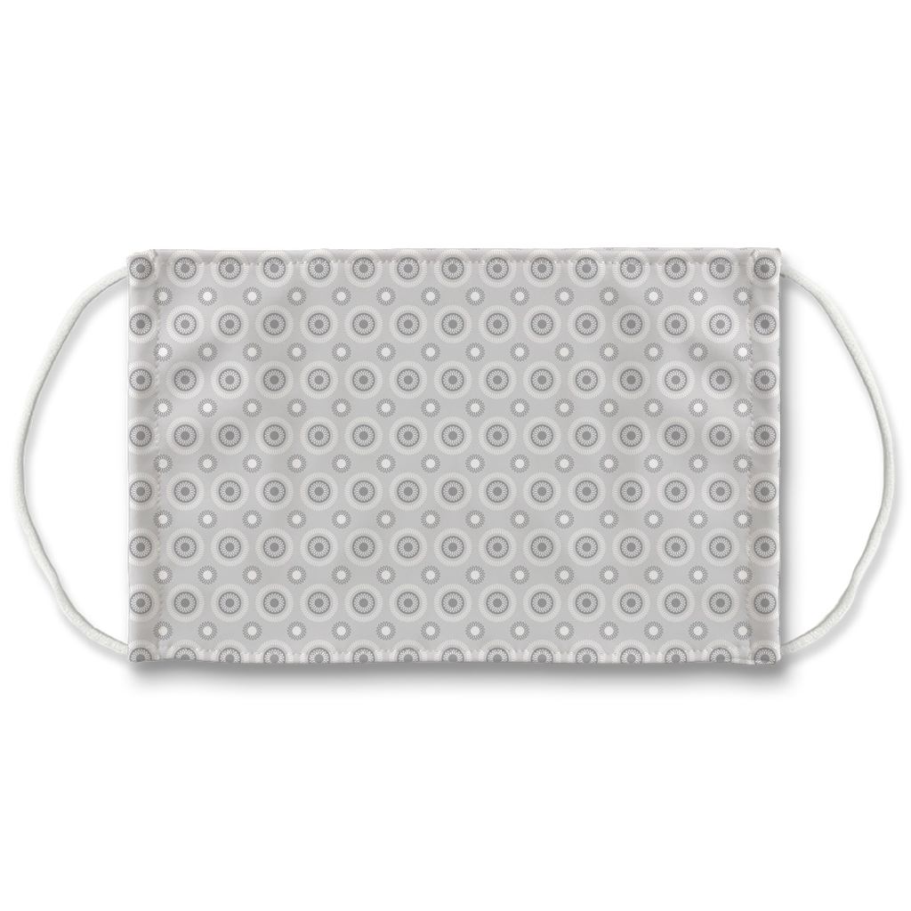 Gray Eyelet Pattern 1  Face Mask