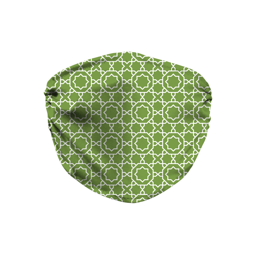 Green Moroccan Pattern 5  Face Mask