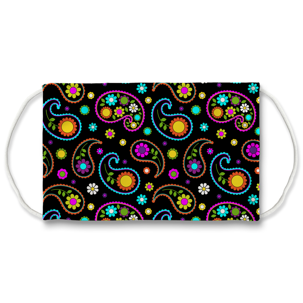 Paisley Floral Pattern 3  Face Mask