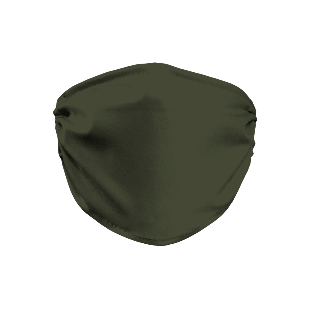 Solid color Army Green  Face Mask