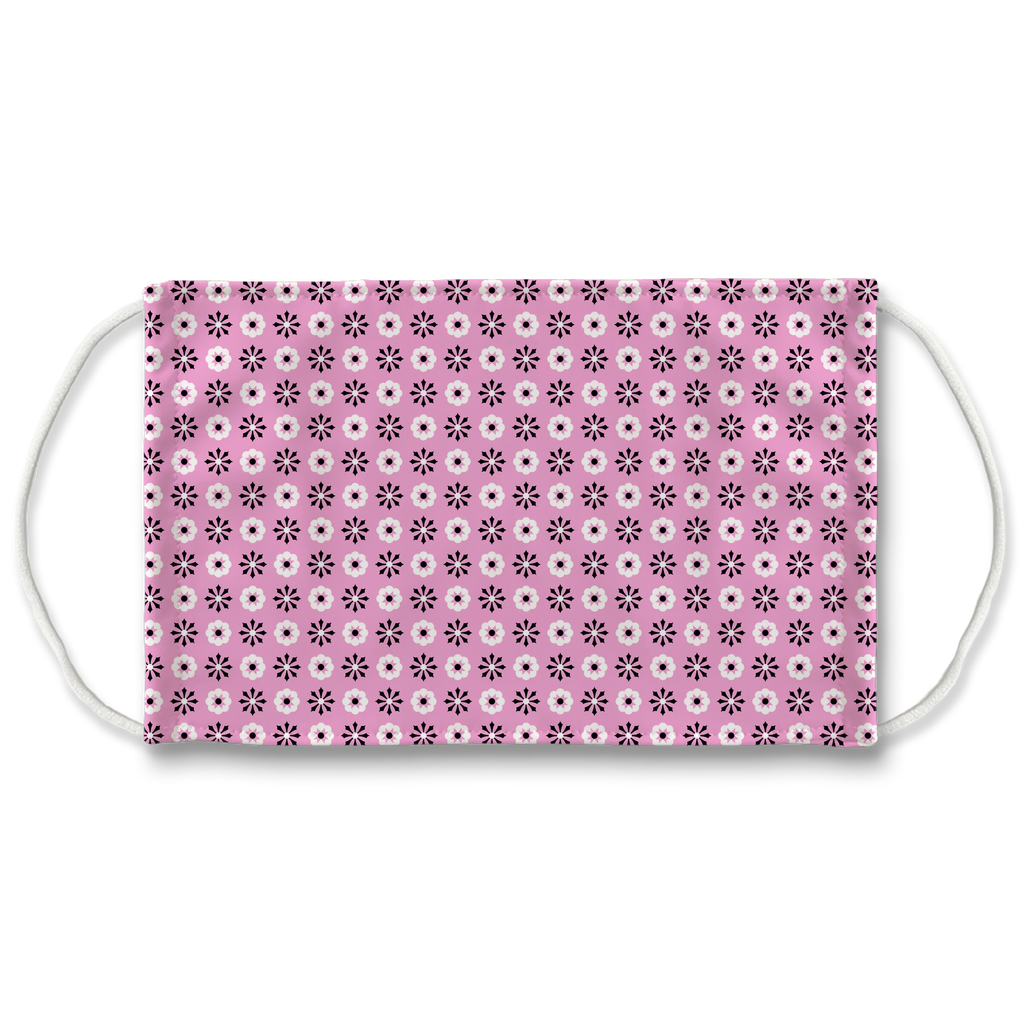 Pink Bandana Pattern 7  Face Mask