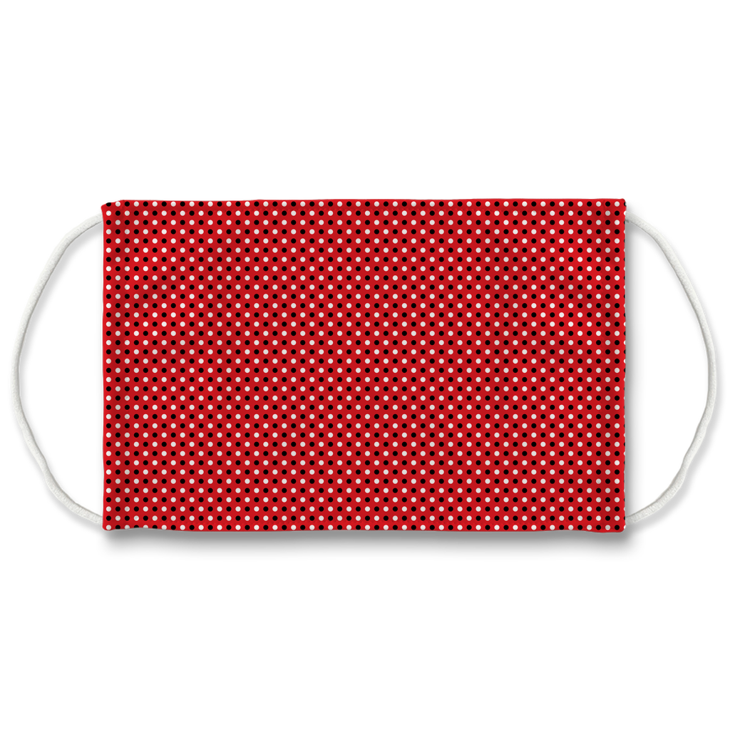 Red Bandana Pattern 2  Face Mask