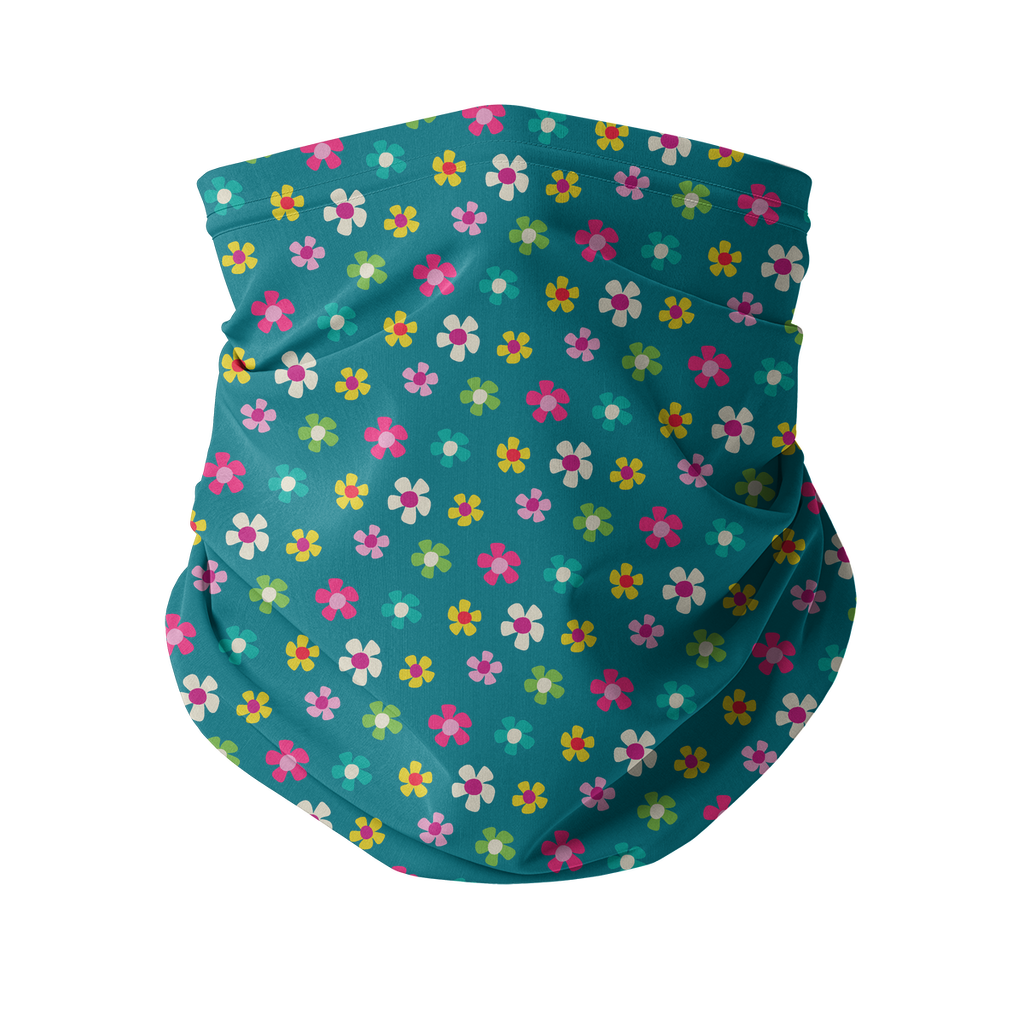 Flowers and Birds Neck gaiter 4 Sublimation Neck Gaiter