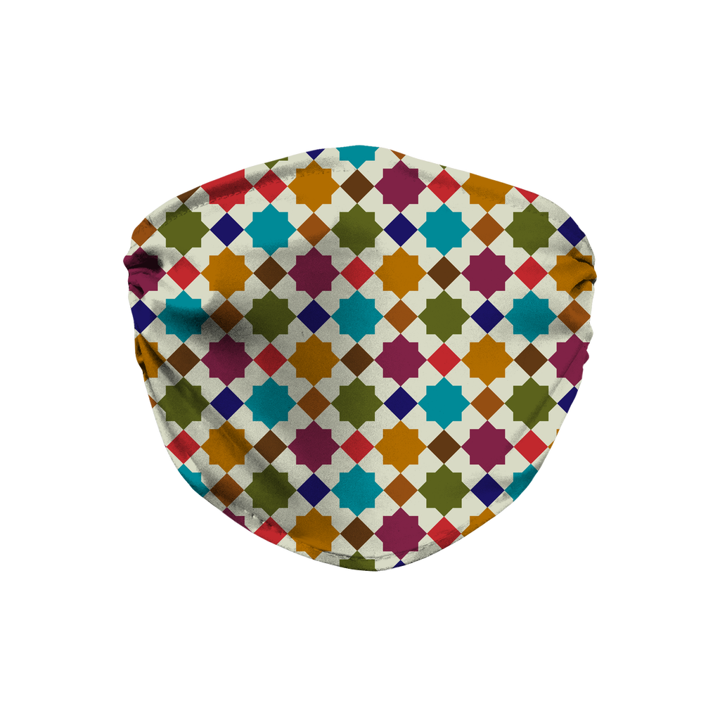 Moroccan Tile Pattern 4  Face Mask