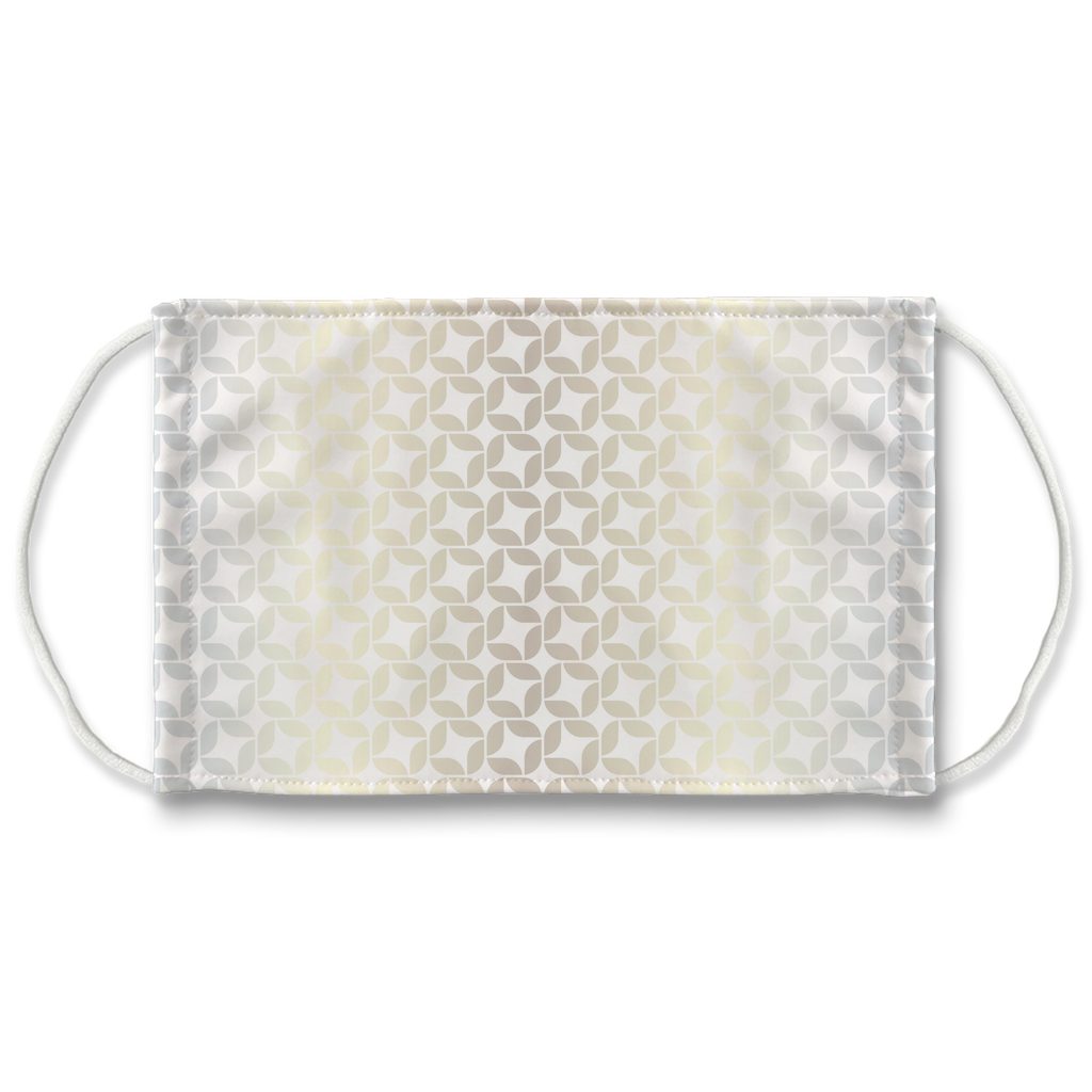 Silver Gold Pattern 7  Face Mask