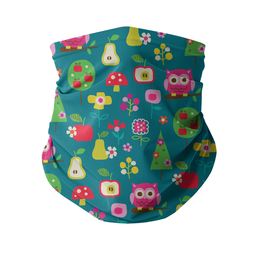 Flowers and Birds Neck gaiter 3 Sublimation Neck Gaiter