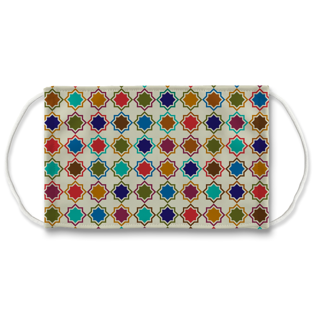 Moroccan Tile Pattern 7  Face Mask