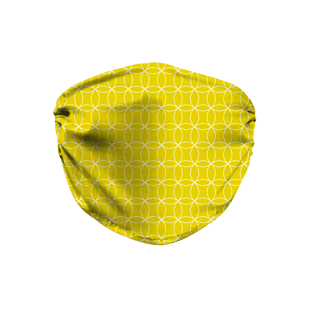 Circle Lattice Pattern 9  Face Mask