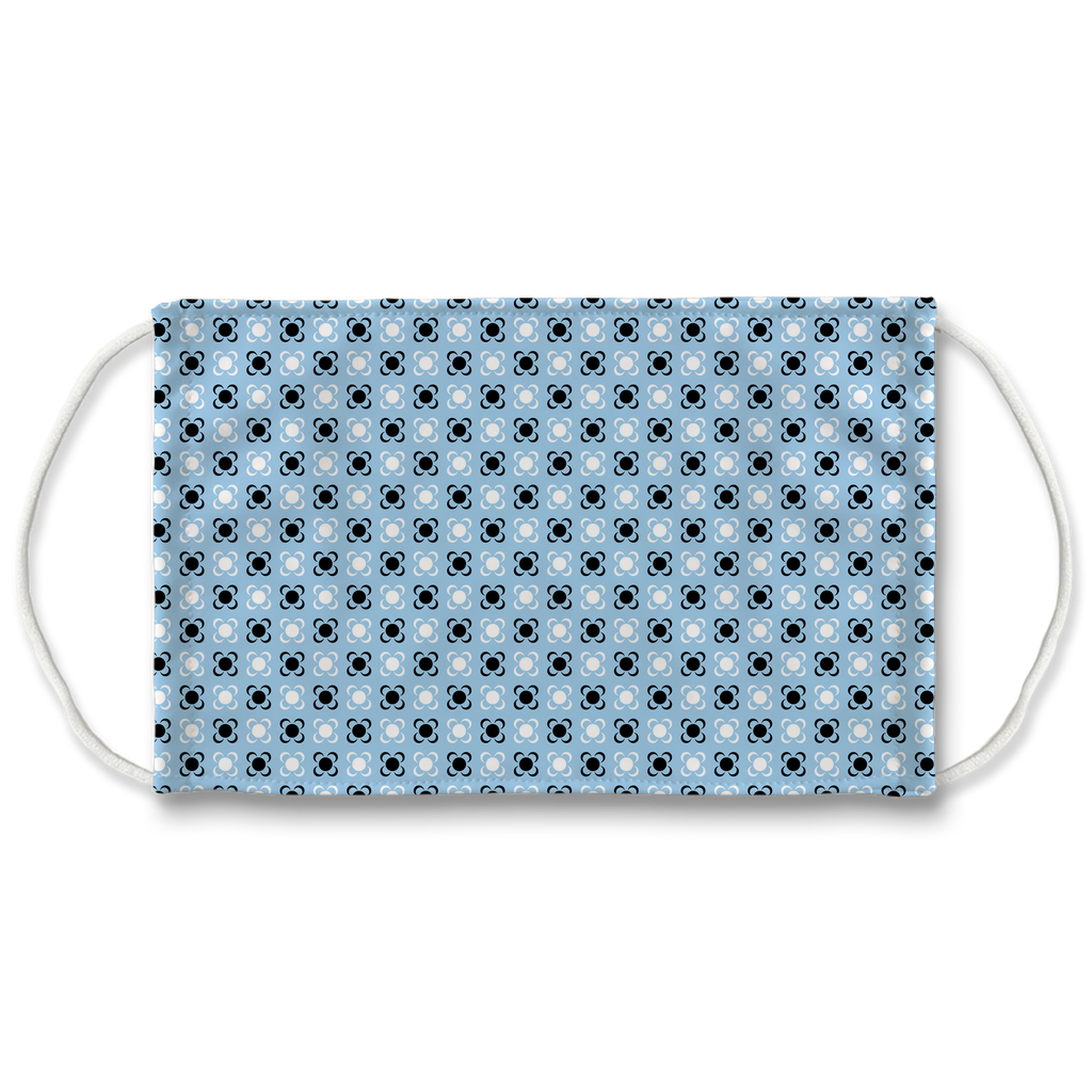 Light Blue Bandana Pattern 1  Face Mask