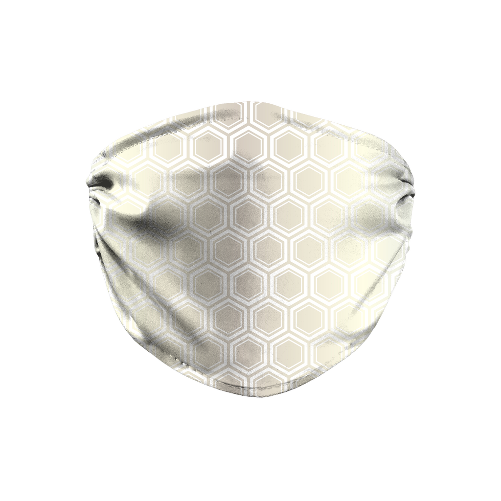 Silver Gold Mod 10  Face Mask