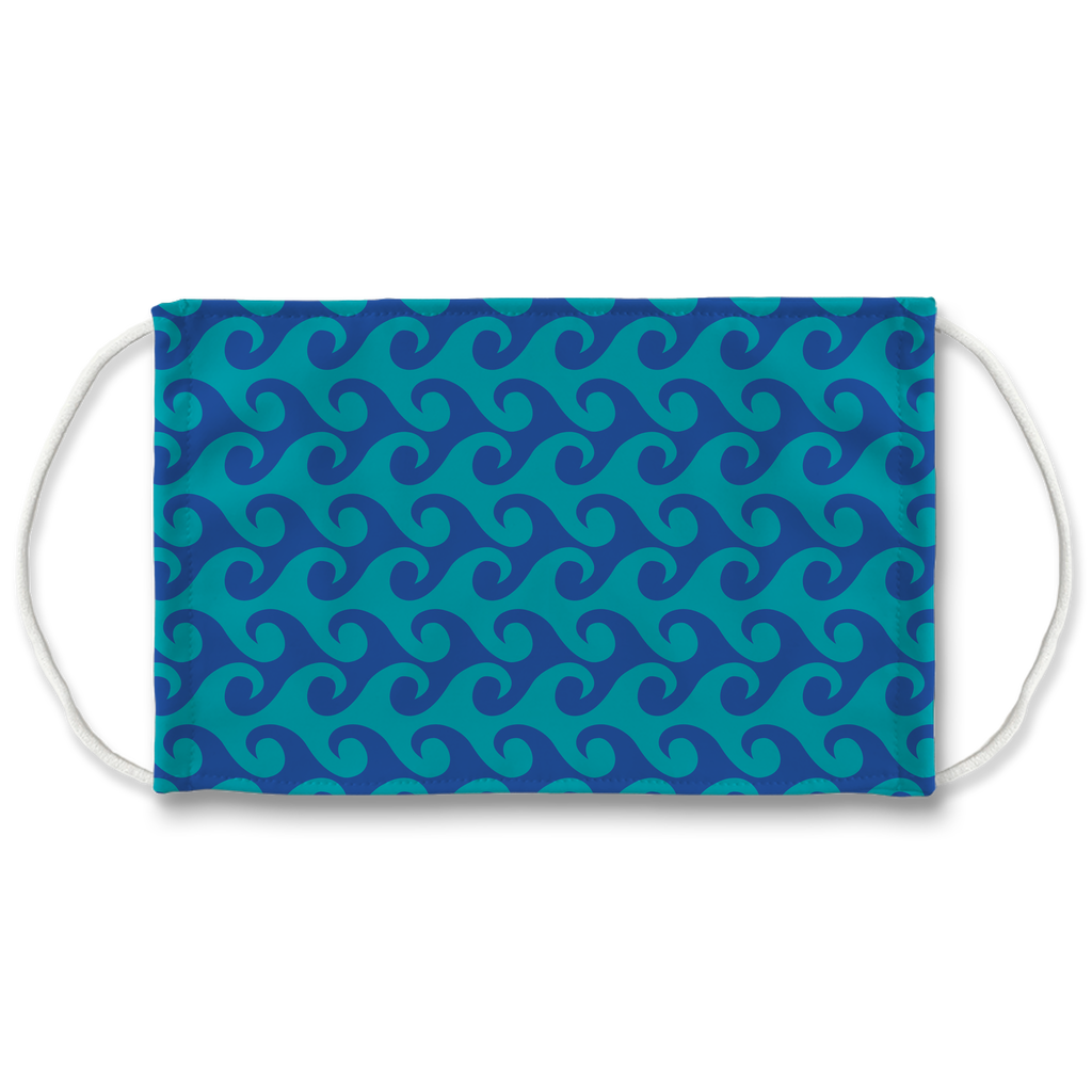 Wave Pattern 1  Face Mask