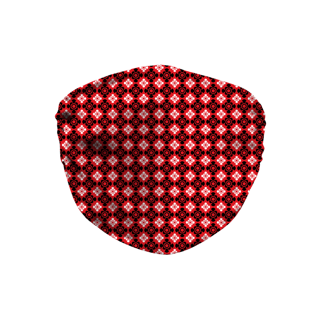 Red Bandana Pattern 8  Face Mask