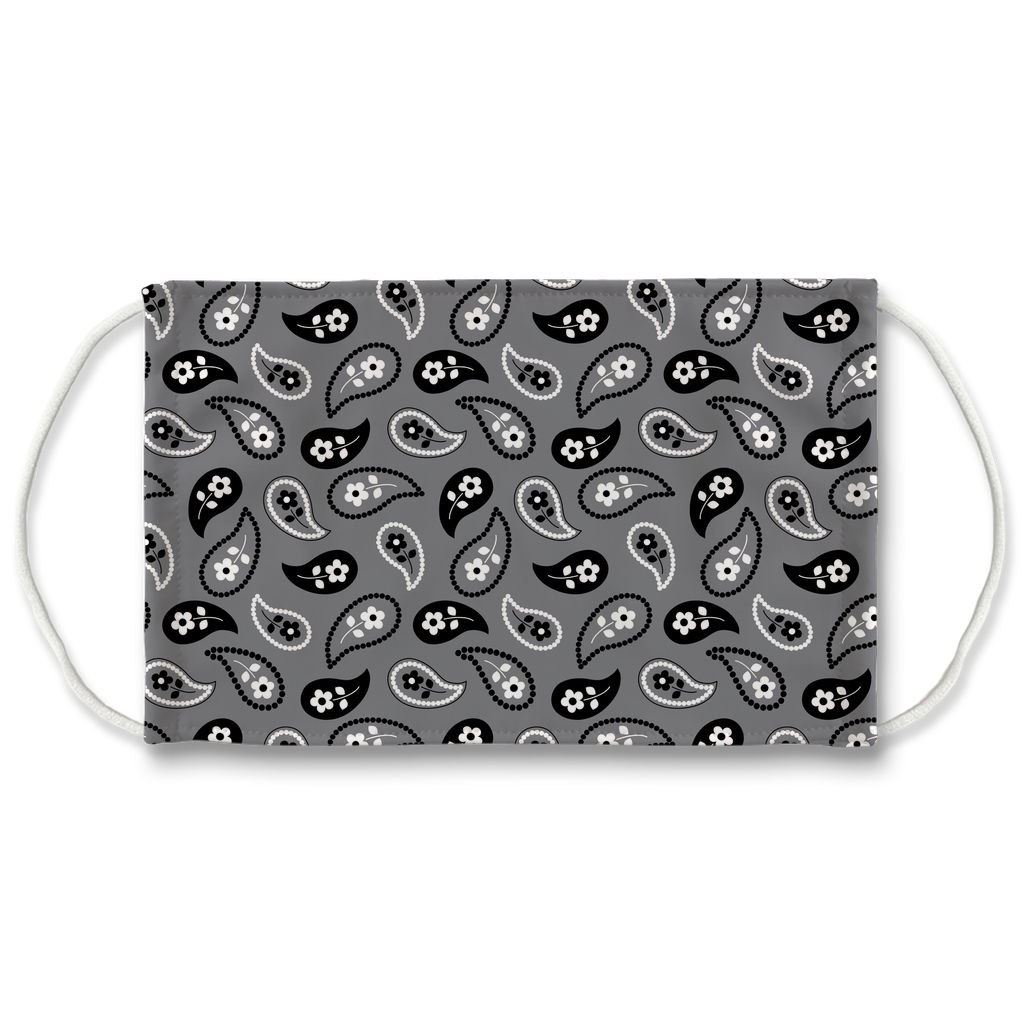 Gray Bandana Pattern 11  Face Mask