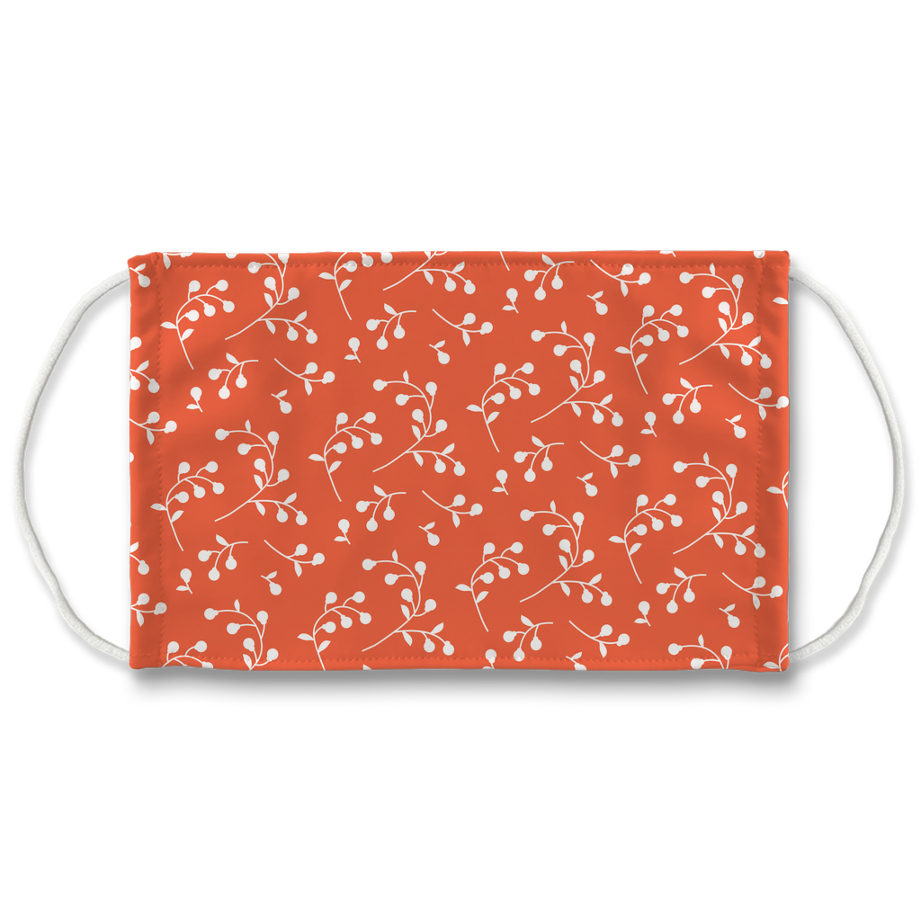 Retro Floral Pattern 7  Face Mask