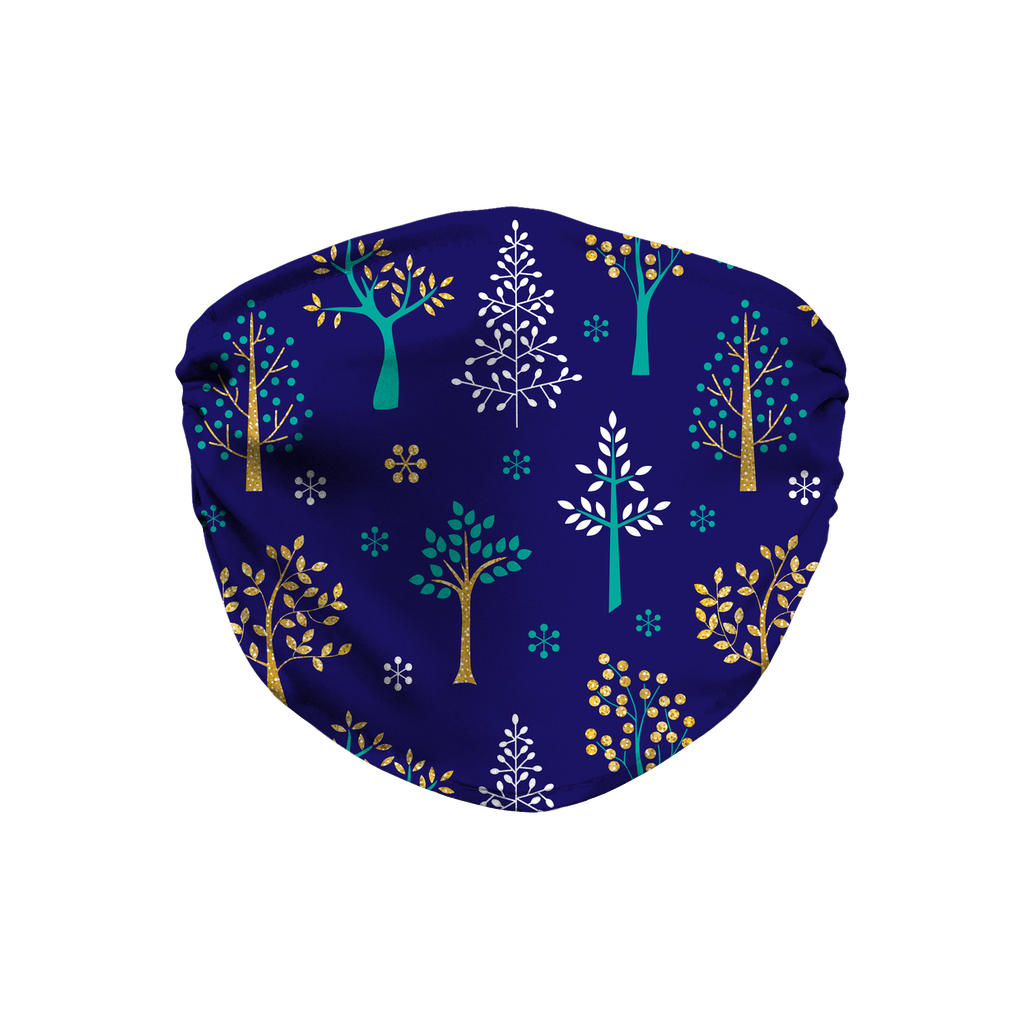 Glitter Winter Pattern 3  Face Mask