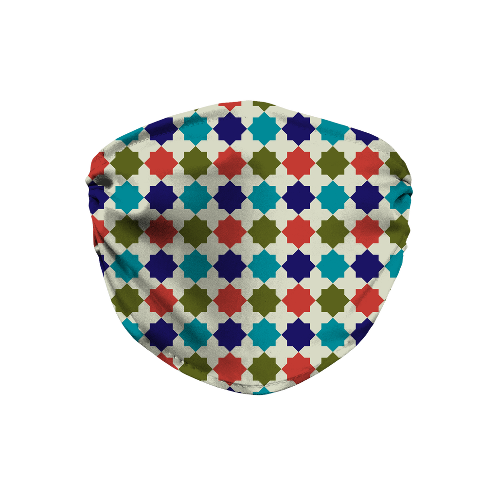 Moroccan Tile Pattern 10  Face Mask