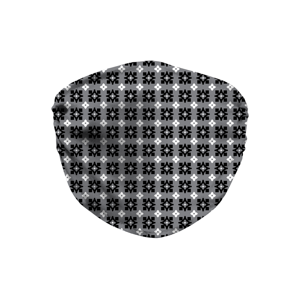 Gray Bandana Pattern 10  Face Mask
