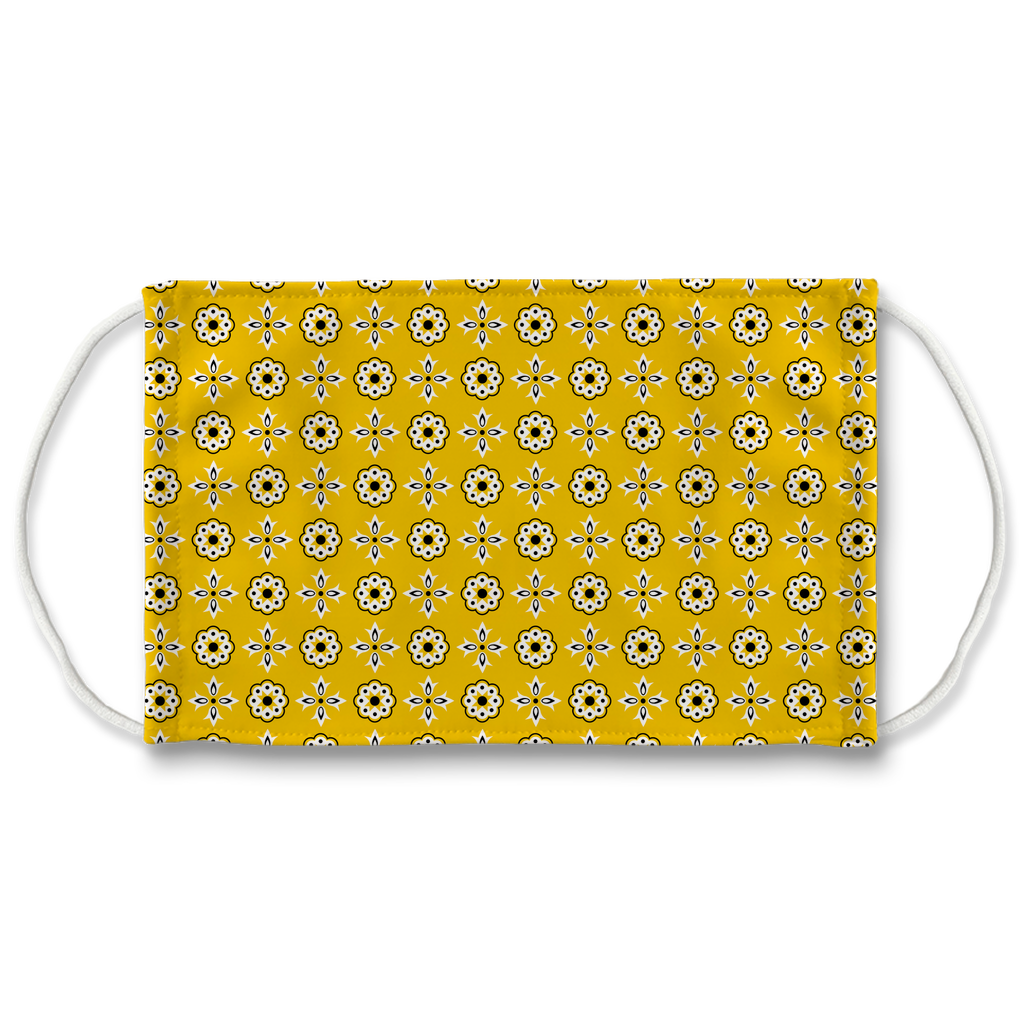 Yellow Bandana Pattern 12  Face Mask